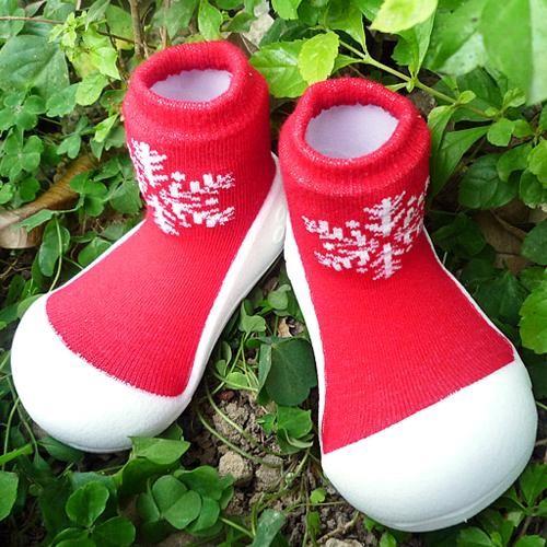 Attipas 快樂腳襪型學步鞋-耶誕限定