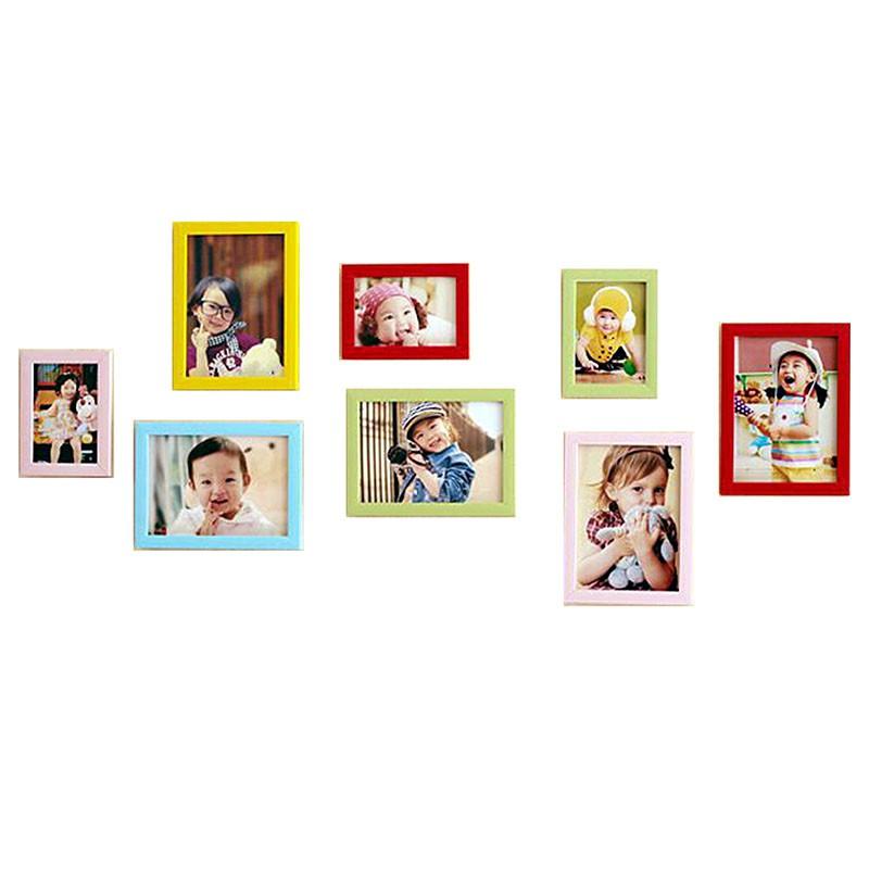 BANG【可打統編】相框牆 8個相框組 歐式相框組合 婚紗攝影 照片牆 裝飾 相框 創意相框 相框組合【HH03】
