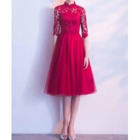 新作 パーティードレス 結婚式 二次會 ワンピース  20代 30代 40代 結婚式 お呼ばれドレス ドレス 結婚式 お呼ばれ