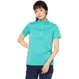 [Mizuno] アウトドアウェア ドライベクター半袖ZIPシャツ 吸汗速乾 UVカット B2MA9261 レディース ガムドロップグリーン 日本 S (日本サイズS相当)