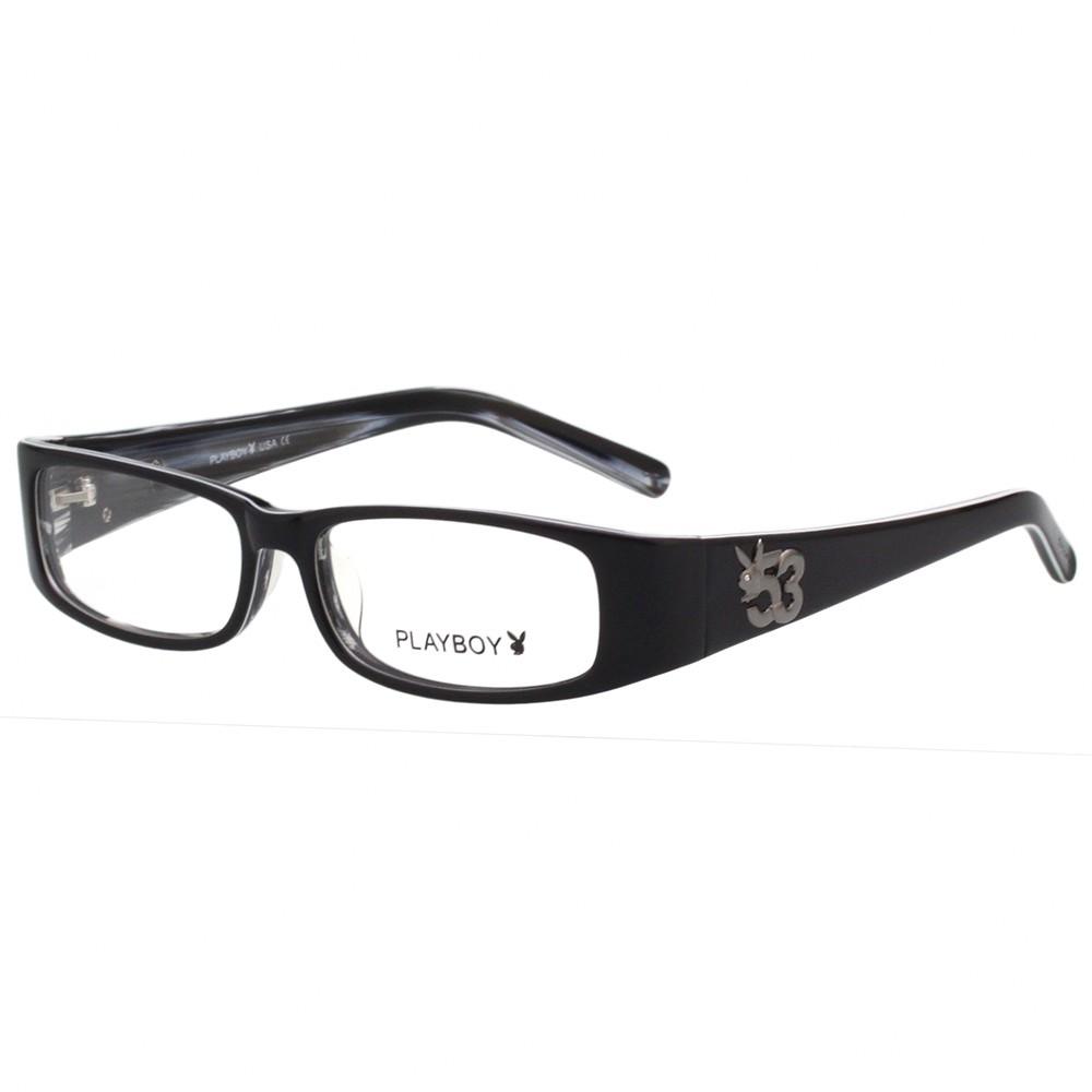 PLAYBOY-時尚光學眼鏡-黑色-PB85159