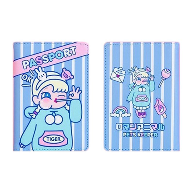 FUFUBAG-護照夾-棒棒糖女孩多功能護照套/護照包/票卡夾/卡包-共4色