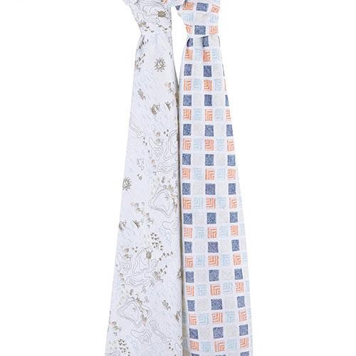 美國aden+anais 有機棉新生兒包巾包巾(2入) - 地平線[免運費]
