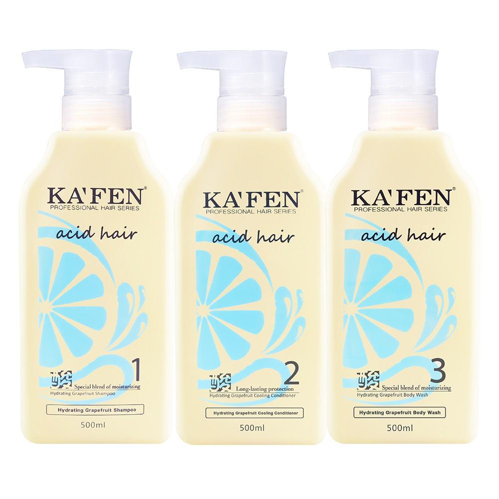 KAFEN亞希朵 水潤柚涼系列 洗髮精/沐浴乳/護髮素 800ml/500ml