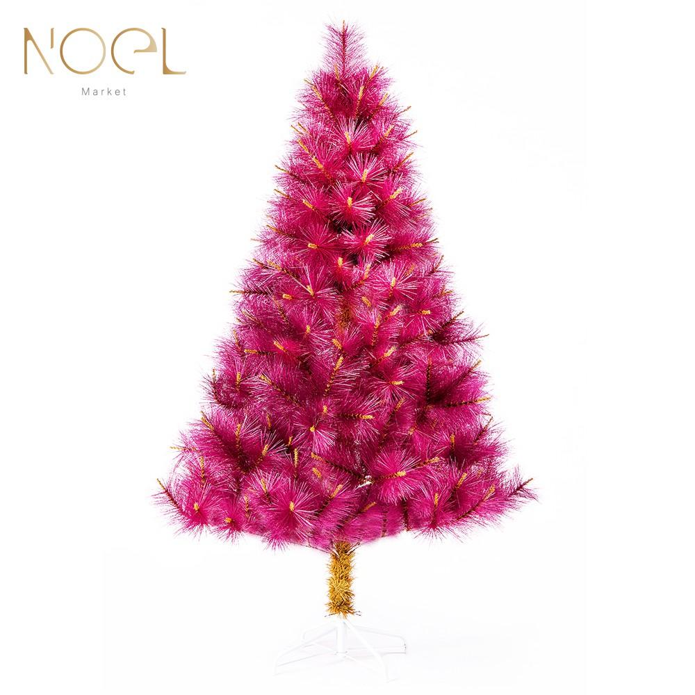 《NOEL》(台灣製)酒紅色仿真松針聖誕裸樹(3尺、4尺、5尺、6尺、7尺、8尺)
