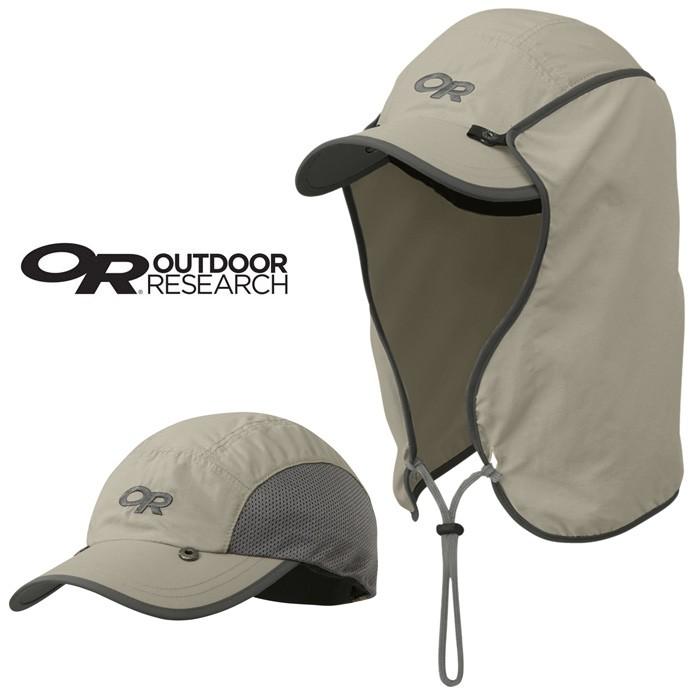 【Outdoor Research 美國】遮脖帽 防曬帽 遮陽帽 護頸帽 卡其色 (243433-0800)