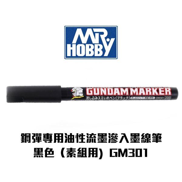 【Gunze郡氏】鋼彈專用油性麥克筆 流墨滲入墨線筆(素組用) 黑色 GM301