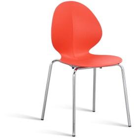 QYJ-ダイニングチェア キッチンホームダイニングチェア、PP素材のシートクッションと背もたれ、ステンレス鋼の錬鉄製の椅子の脚、ダイニングチェアの高さ84.5CM