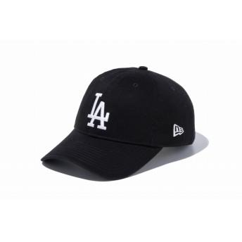 NEW ERA ニューエラ 9TWENTY クロスストラップ ウォッシュドコットン ロサンゼルス・ドジャース ブラック × ホワイト アジャスタブル サイズ調整可能 ローキャップ ベースボールキャップ キャップ 帽子 メンズ レディース 56.8 - 60.6cm 11434009 NEWERA