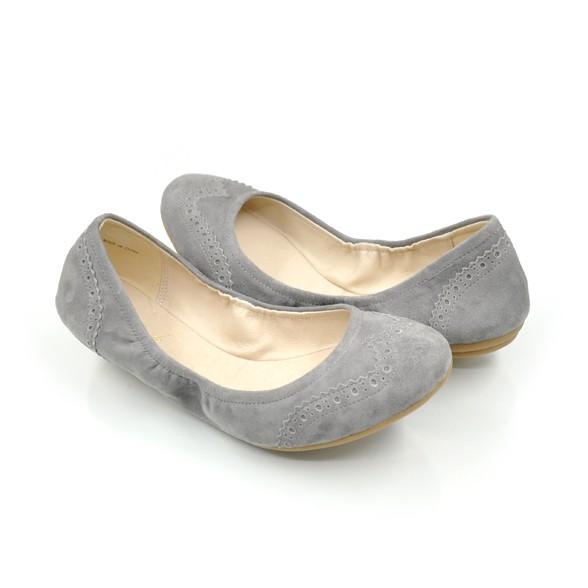 MYSTOCK超軟Q羊絨休閒鞋(灰色/36號)