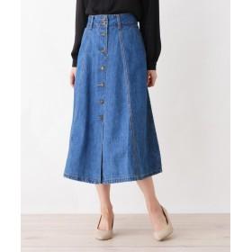 SHOO・LA・RUE/DRESKIP(シューラルー/ドレスキップ) デニム前ボタンスカート