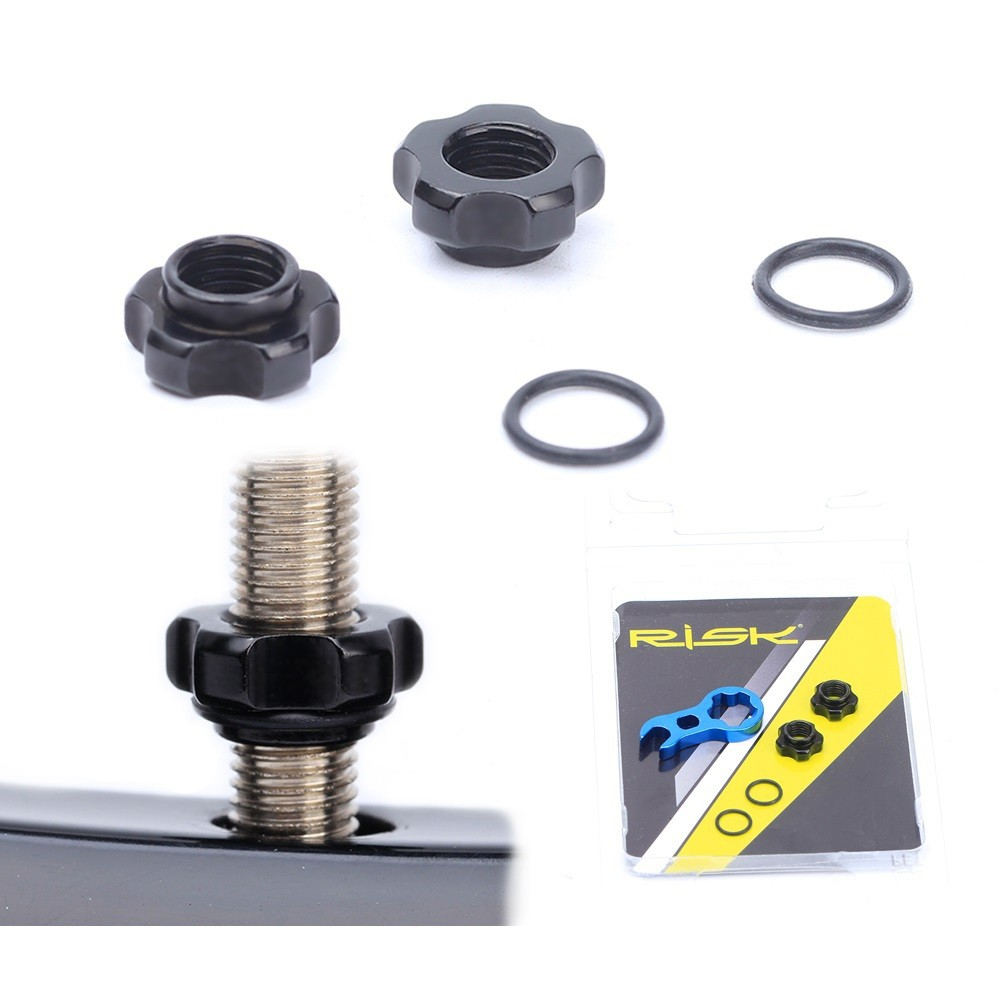 RISK 鋁合金輪圈轉換器【美轉法】美框改法框 輪框氣嘴轉換器[05300605]【飛輪單車】