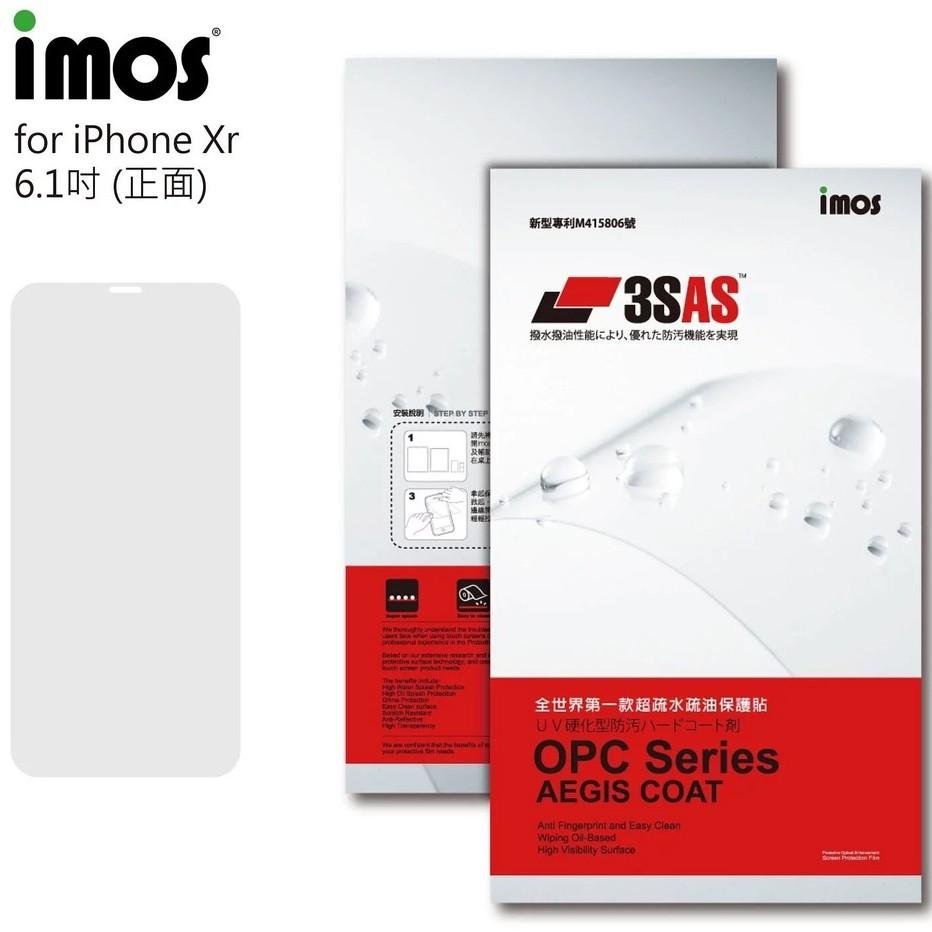 imos iPhoneXR (6.1吋) 3SAS 疏油疏水 螢幕保護貼 (塑膠製品)