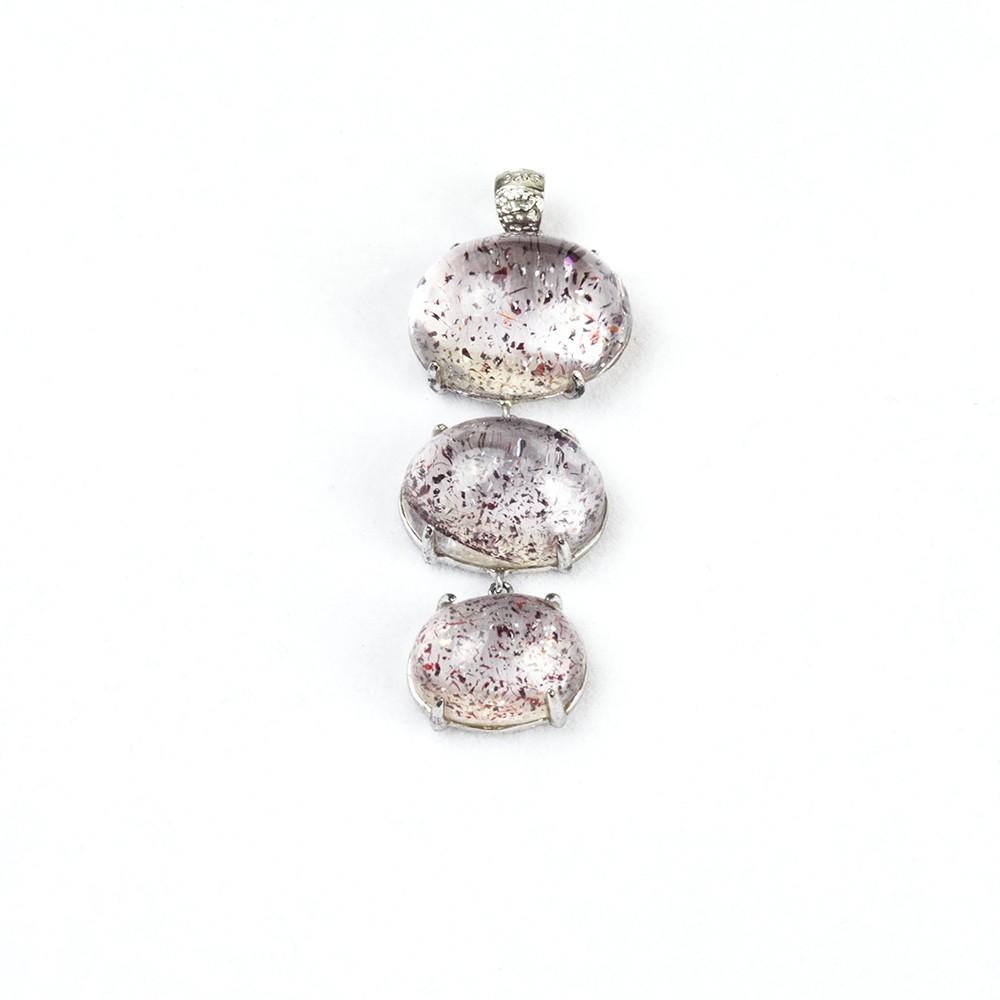 【SOVA寶石創意設計】紅超七水晶墜 項鍊墜 水滴墜 (需鑑定書可加購)