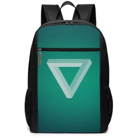 Xzdcvqwedadc 三角形、暗い、明るい、 ラップトップ用バックパック、17インチ大容量バックパック、キャンパスバックパック、大人用バックパック、旅行用バックパック、屋外登山用バッグ、ユニセックス