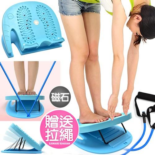 磁石拉筋板+拉繩D107-JQ18足部穴道按摩腳底按摩器.多角度易筋板折疊足筋板拉筋版.美姿伸展保健.平衡板美腿機