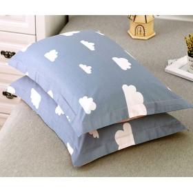 CHENGYI グレーブルー雲パターン純粋な綿の枕カバー枕カバーのペア秋と冬48  74センチメートルの枕コアスリーブ
