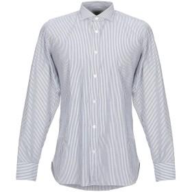 《セール開催中》GIAMPAOLO メンズ シャツ グレー 38 コットン 100%