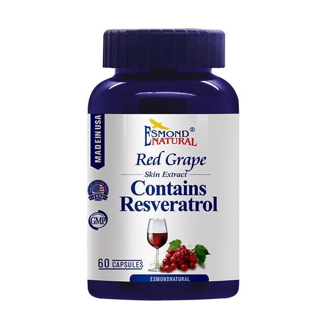 愛司盟紅葡萄精醇膠囊|高單位白藜蘆醇|美麗青春再進化|Esmondnatural美國原裝60錠