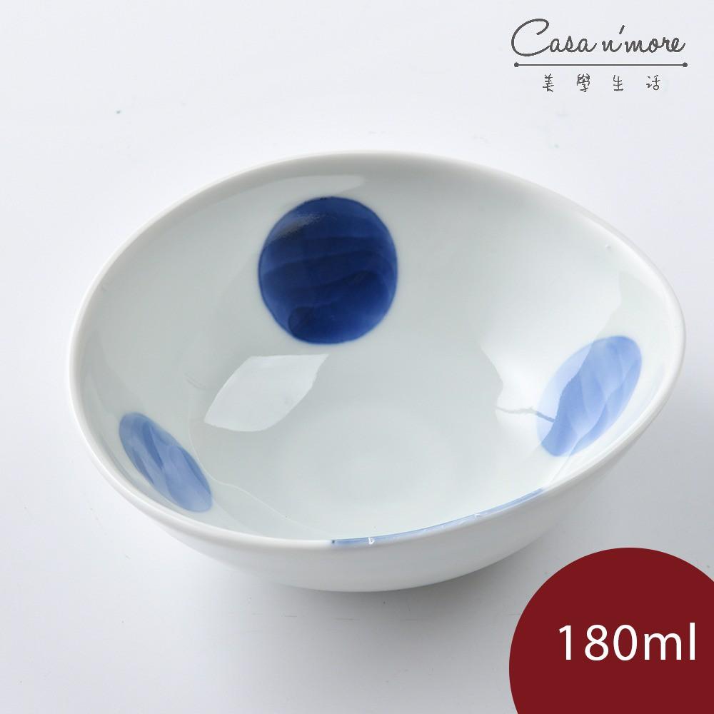 康創陶 和食器 前菜碗 前菜碟 小碗 餐碗 醬汁碗 藍點 180ml
