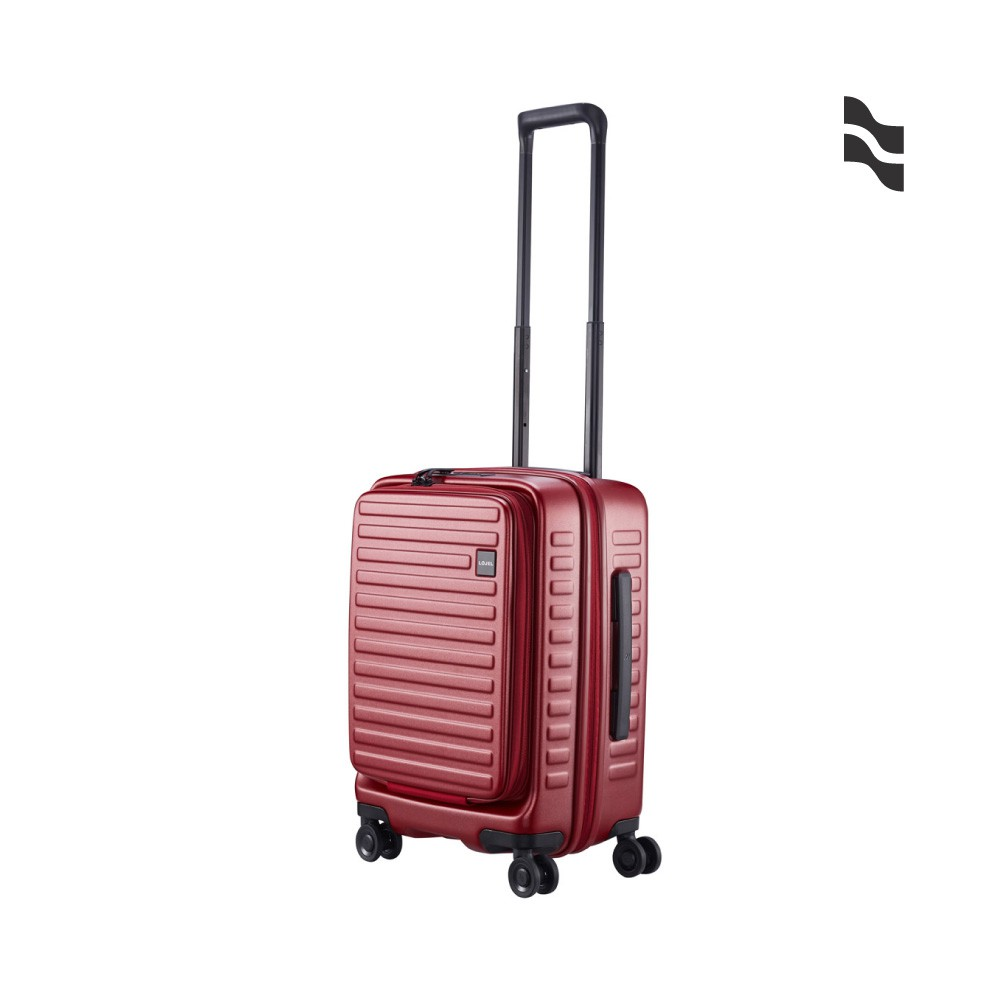 LOJEL CUBO 21吋登機箱 酒紅色【五福居家生活館】前開擴充行李箱