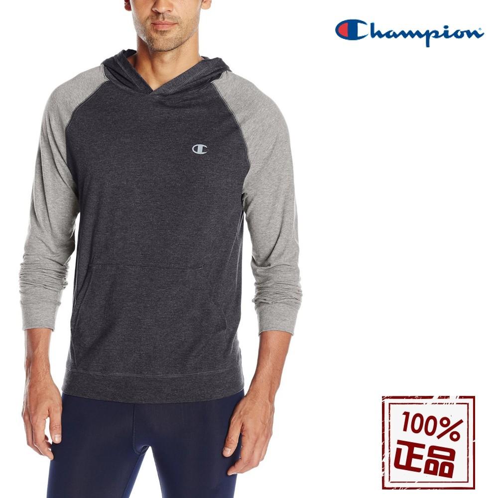 Champion Vapor【輕燕系列】男輕量長袖帽Tee S0906 Vapor永久排汗 大尺碼 大學T 帽T