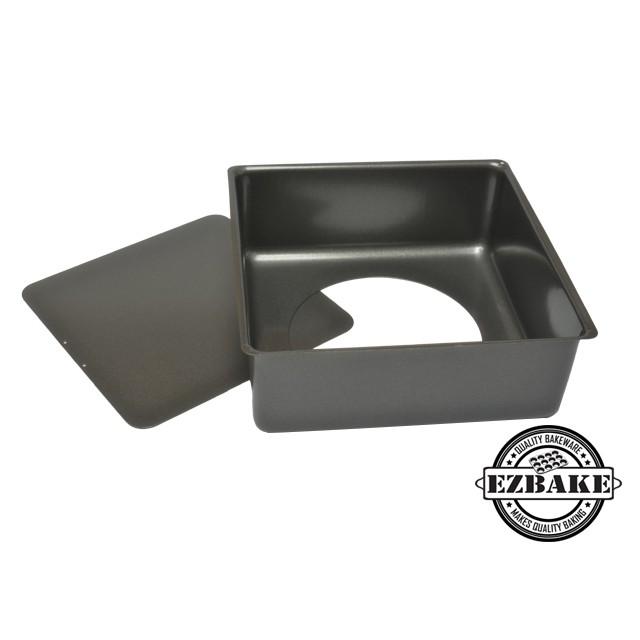 《EZBAKE》活動底方形蛋糕烤盤:經SGS認證的無毒方型蛋糕模!碳鋼烤盤、不沾烤盤、烘焙烤盤、健康、不沾好脫模。