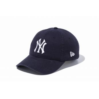 NEW ERA ニューエラ 9TWENTY レザーストラップ ウォッシュドコットン ニューヨーク・ヤンキースCT ネイビー × ホワイト アジャスタブル サイズ調整可能 ローキャップ ベースボールキャップ キャップ 帽子 メンズ レディース 56.8 - 60.6cm 11440116 NEWERA