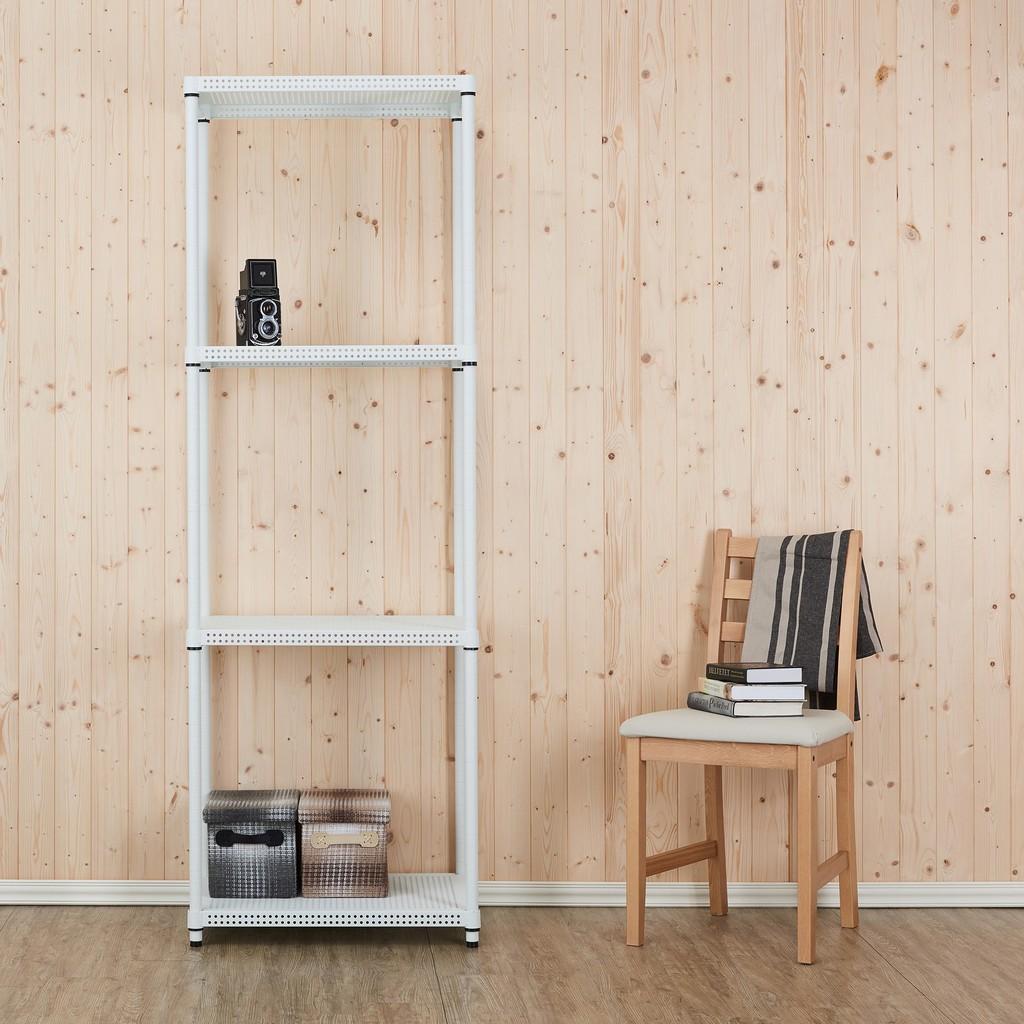 【鐵坊家具】46深 x 60寬 x 180高 四層白色鐵架《另加購邊框/輪子洽客服》