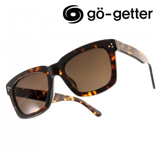 Go-Getter 太陽眼鏡 GS1001 DE 人氣經典方框款 - 金橘眼鏡