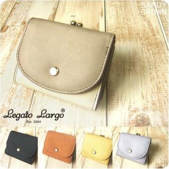 レガートラルゴ Legato Largo プランプフェイクレザーのがま口付き三つ折りミニ財布