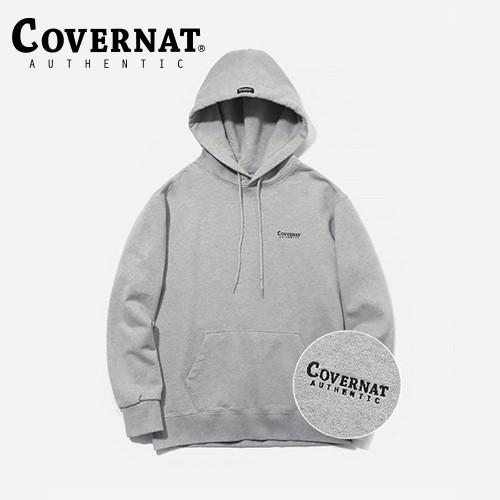 [COVERNAT] SMALL AUTHENTIC LOGO 帽T (灰)