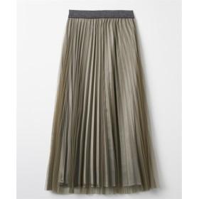 Wプリーツロング丈スカート (ロング丈・マキシ丈スカート),skirt