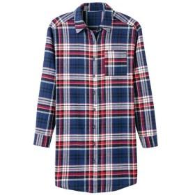 【レディース】 ビエラチュニックシャツ(綿100%) ■カラー:ネイビーチェック ■サイズ:LL,L,M,S