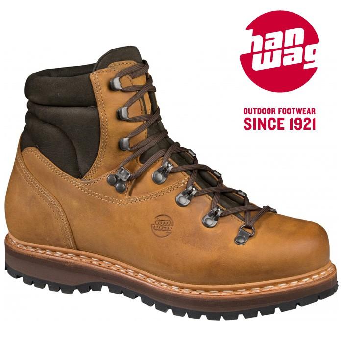 【Hanwag 悍威 德國】BERGLER 皮革登山鞋 健行鞋 男款 沙漠色 (1114-44)