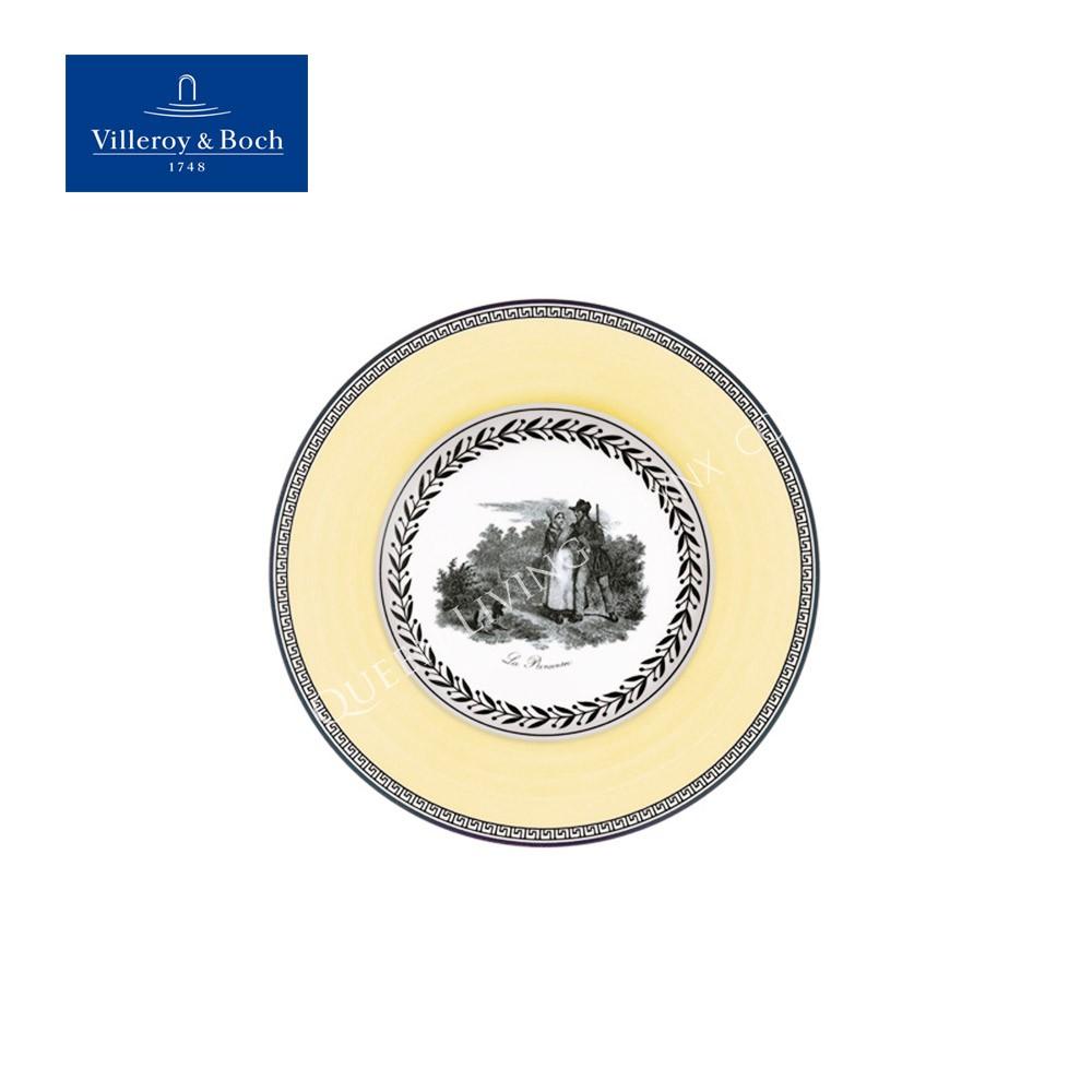 【Villeroy & Boch】 奧頓 Audun 系列-17.5CM盤-Chasse 狩獵黃邊