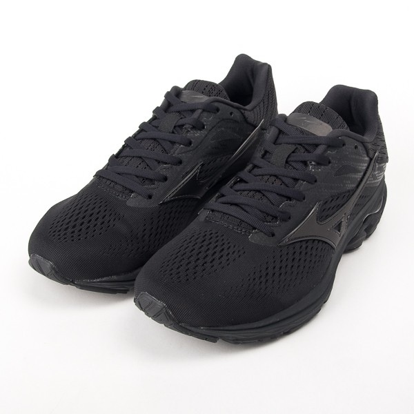 Mizuno 美津濃 WAVE RIDER 23 慢跑鞋 全黑 警察 勤務鞋 大尺碼 J1GC190310 現貨