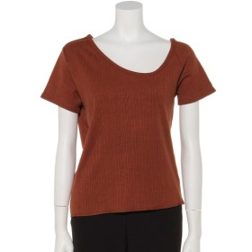 63%OFF CIAOPANIC (チャオパニック) アシメネックTシャツ ブラウン