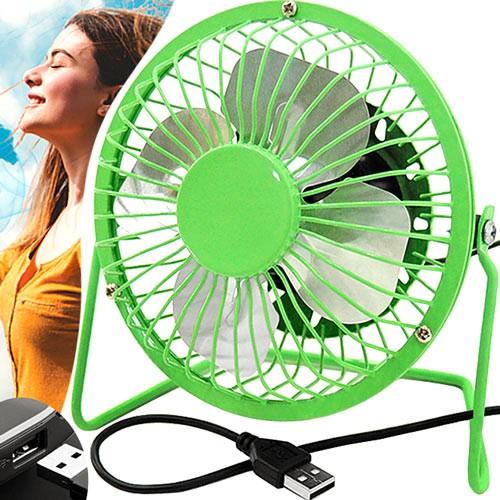 4吋鋁葉USB風扇.隨身電風扇金屬葉片桌扇.桌上型充電風扇學生宿舍迷你小風扇散熱降溫360度環保風扇D137-3120