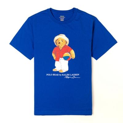 Polo Ralph Lauren 年度熱銷經典Polo熊短袖T恤(青年款)-藍色
