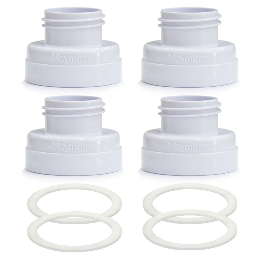 Maymom 寬口奶瓶轉接環4入組 (標準喇叭罩轉歐規寬口奶瓶)