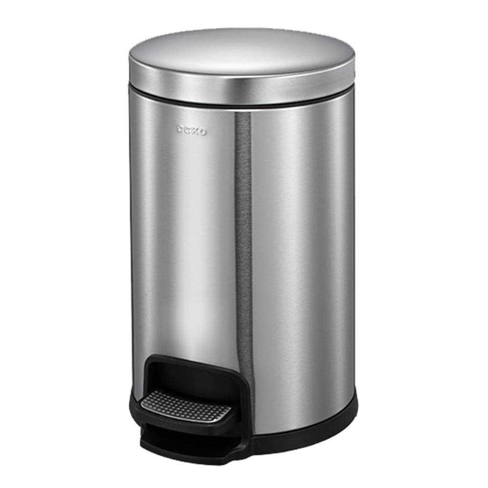 CCKO不銹鋼有蓋垃圾桶家用腳踩腳踏式浴室廚房客廳臥室創意 5L