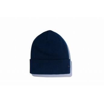NEW ERA ニューエラ ベーシック カフニット メタルフラッグロゴ ネイビー ニット帽 ニットキャップ ニット 帽子 メンズ レディース ワンサイズ 12108814 NEWERA