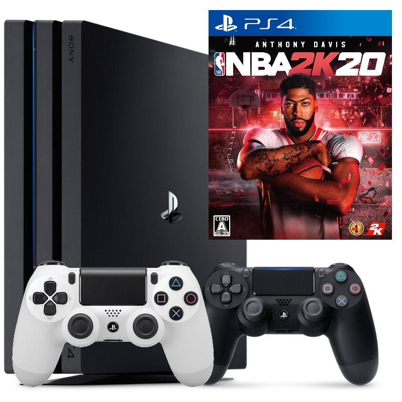 PS4主機 PS4 7218B PRO 雙手把組+NBA 2K20 NBA雙人同樂組【台中星光電玩】