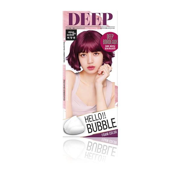 HELLO BUBBLE泡沫染髮劑 波爾多玫瑰【康是美】