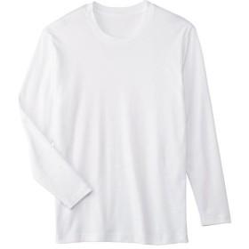 【レディース】 綿100%長袖Tシャツ ■カラー:ホワイト ■サイズ:S,M,LL,3L,L,5L