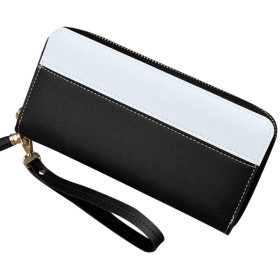 コインマネーカード携帯電話KA BEST、ブラック用1つの女性レディウォレット財布ロングデザインジッパー