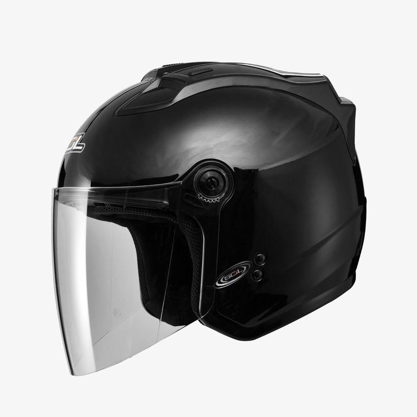 SOL 安全帽 27S SL-27S 素色 素黑 半罩 3/4罩 通風透氣 LED燈 雙D扣《比帽王》