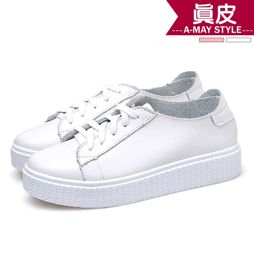 艾美時尚 休閒鞋 真皮好搭配休閒鬆糕鞋(36-40碼。共2色) XFR72855