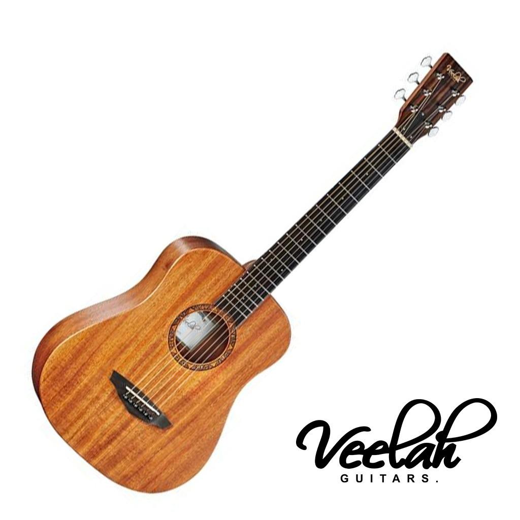 Veelah旅行吉他34吋 Togo-M 小吉他 民謠吉他 桃花心單板 - 【黃石樂器】